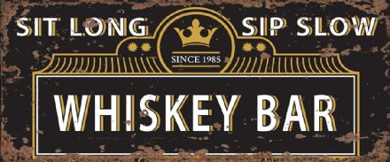 Whiskey Sign, Whiskey Bar Sign - Metal Vintage Wall Sign Kitchen